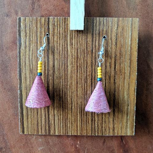 Alwan Earrings | Dyed Red Oak