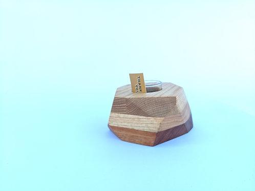 Geo Block | Oak + Mahogany
