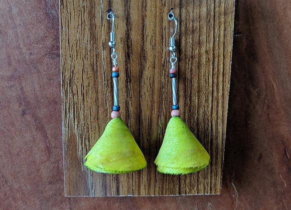 Alwan Earrings | Dyed Maple