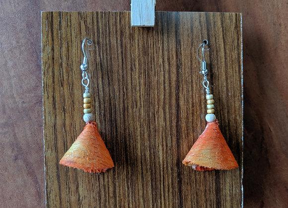 Alwan Earrings | Dyed Oak