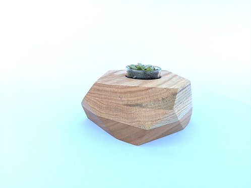 Geo Block | Oak + Cherry