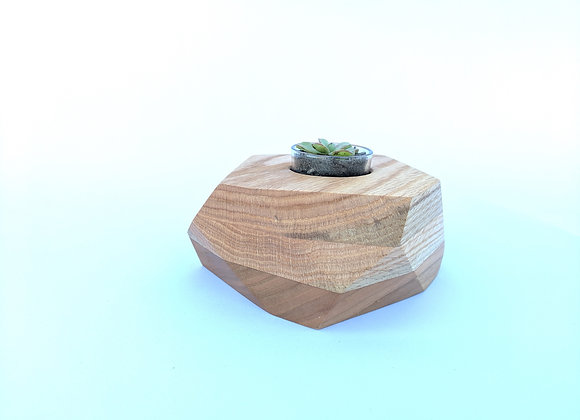 Geo Block | Oak + Cherry