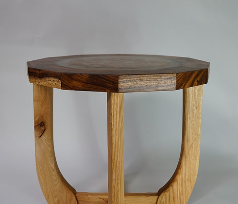 Mabroom Side Table | Maui Monkeypod + Red Oak