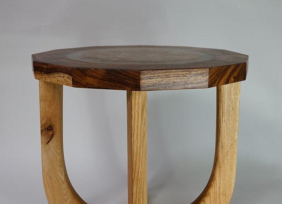 Mabroom Side Table | Maui Monkeypod + Red Oak