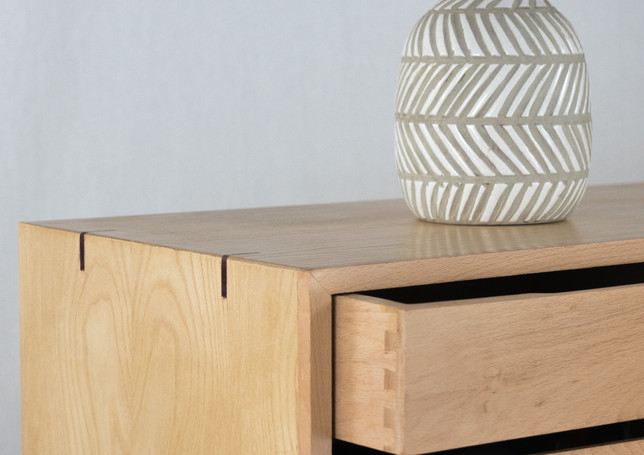 The mitre splines are equal parts aesthetic and functional. They make sure everything stays in place.