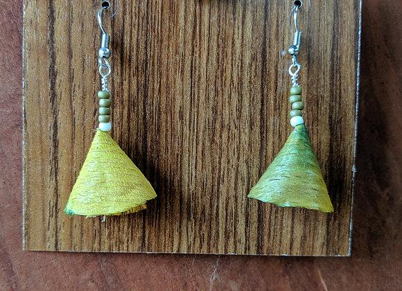 Alwan Earrings   Dyed Beech