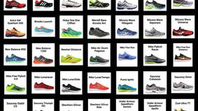 A continuación, las zapatillas para pista mas votadas en el 1er semestre de 2016.