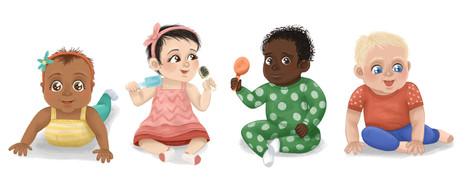 Babies Character Design