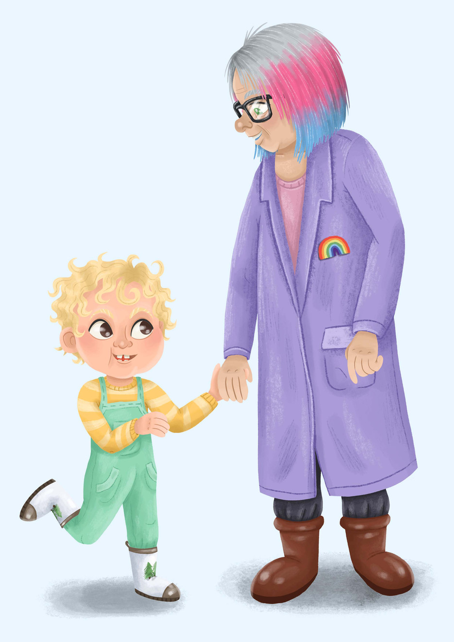 Boy and Grandma