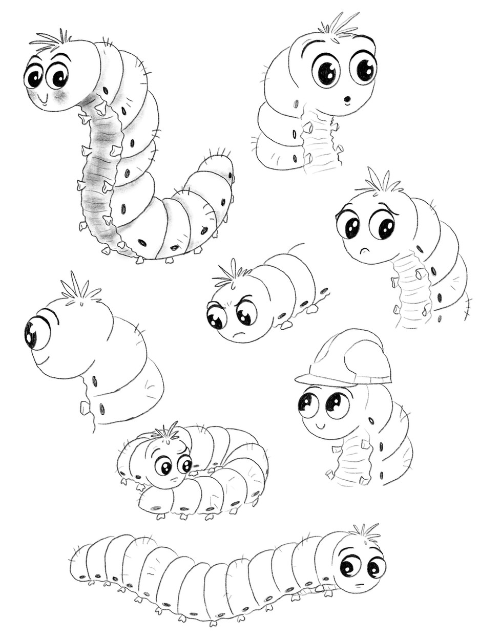 Caterpillar Character Design