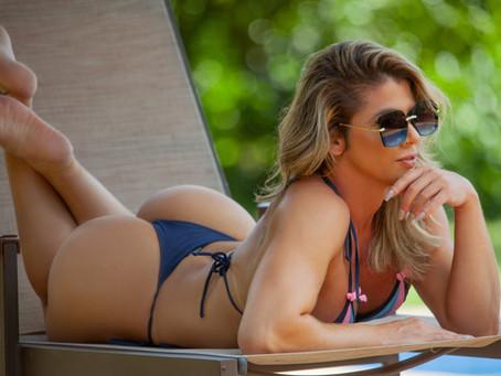 Val Almeida - atleta fitness, modelo fotográfica, influenciadora digital e empresária.