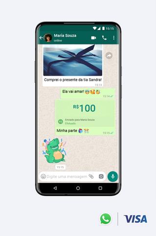 Visa y Facebook se asocian para lanzar pagos por Whatsapp en Brasil