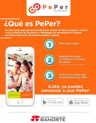 ¿Enviar dinero a tus contactos de WhatsApp o Facebook? Con PePer, la app de Banorte, ya es posible