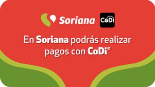 Soriana incorpora a CoDi como medio de cobro
