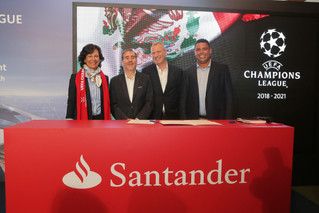Santander deja la F1 y ahora patrocinará la Champions League