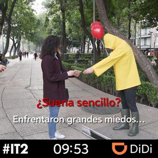 Con divertida dinámica, DiDi llevará a clientes a la función de It 2 (Eso 2)