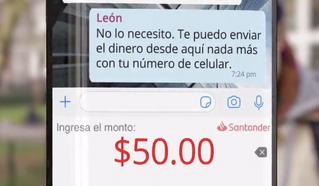 Banco Santander México anuncia transferencias de dinero por Whatsapp