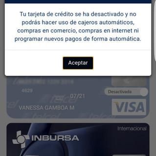 ¿Bloquear tu Tarjeta de Crédito cuando no la uses? Inbursa ya lo permite