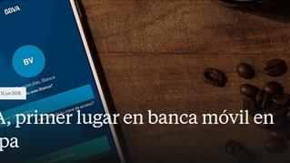 BBVA, primer lugar en banca móvil en Europa