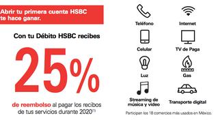 HSBC quiere conquistarte; te regresará 25% del pago de servicios