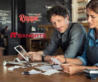 Rappi y Banorte lanzan créditos  para comercios y restaurantes