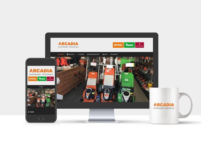 Arcadia Zahradní technika | webové stránky
