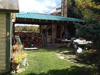 Julie Crosy's studio in Mecklenburg, NY