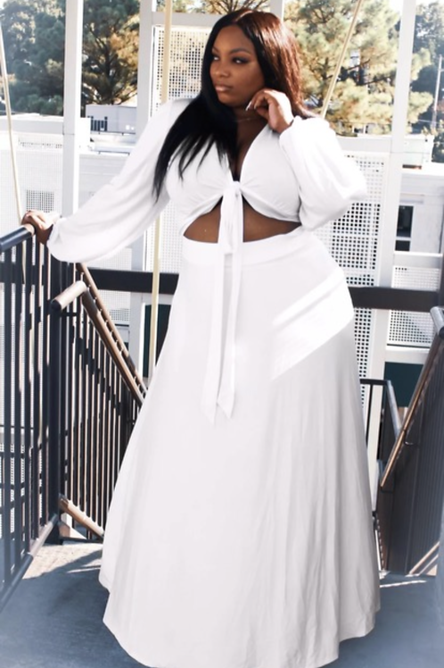 VACATION TIME READY WHITE 2pc