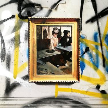 Edgar Degas. Absinthe drinker