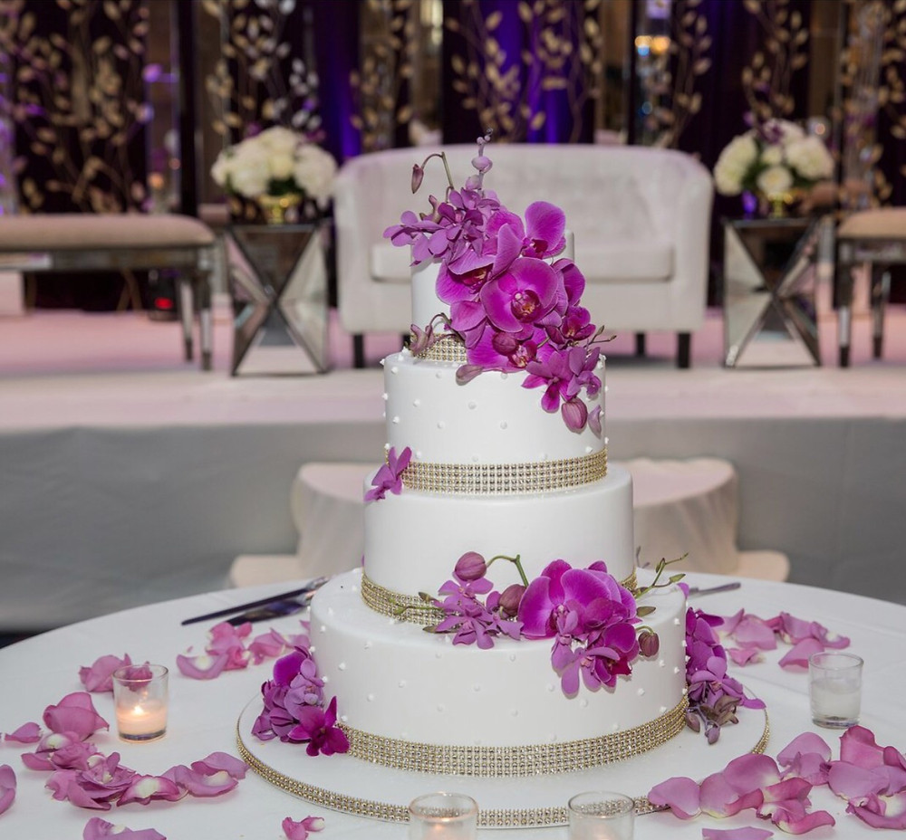 Wedding Cake Pink Orchids