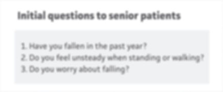 07 Initial questions to senior patients.