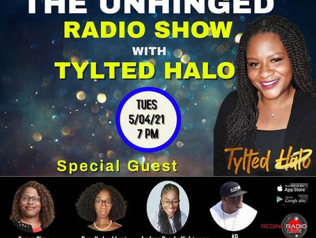 Speaking on the Tylted Halo Radio Show.  Usually one a month.