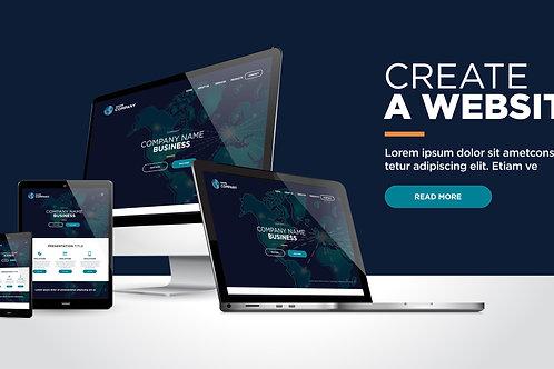 Website design (Blue Package)