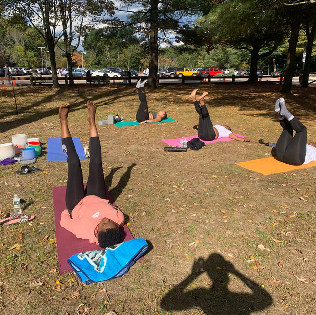 Yoga at Houghton's Pond