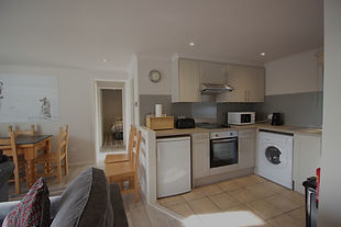 Kitchen layout in self-catering apartment