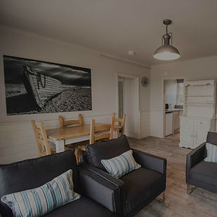 Open plan self-catering lounge space in Woolacombe