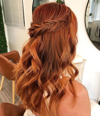 Gorgeous copper colour and style created