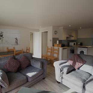Open plan lounge space