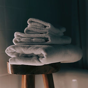 Towels provided in accommodation