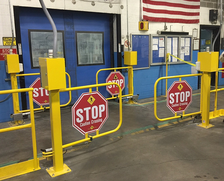 HIGH SPEED DOOR PROTECTION & safe2cross forklift safety crossings safety equipment azcodes.com