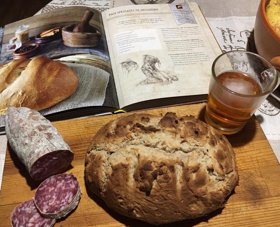 pane e salame col pan speziato di mulgore