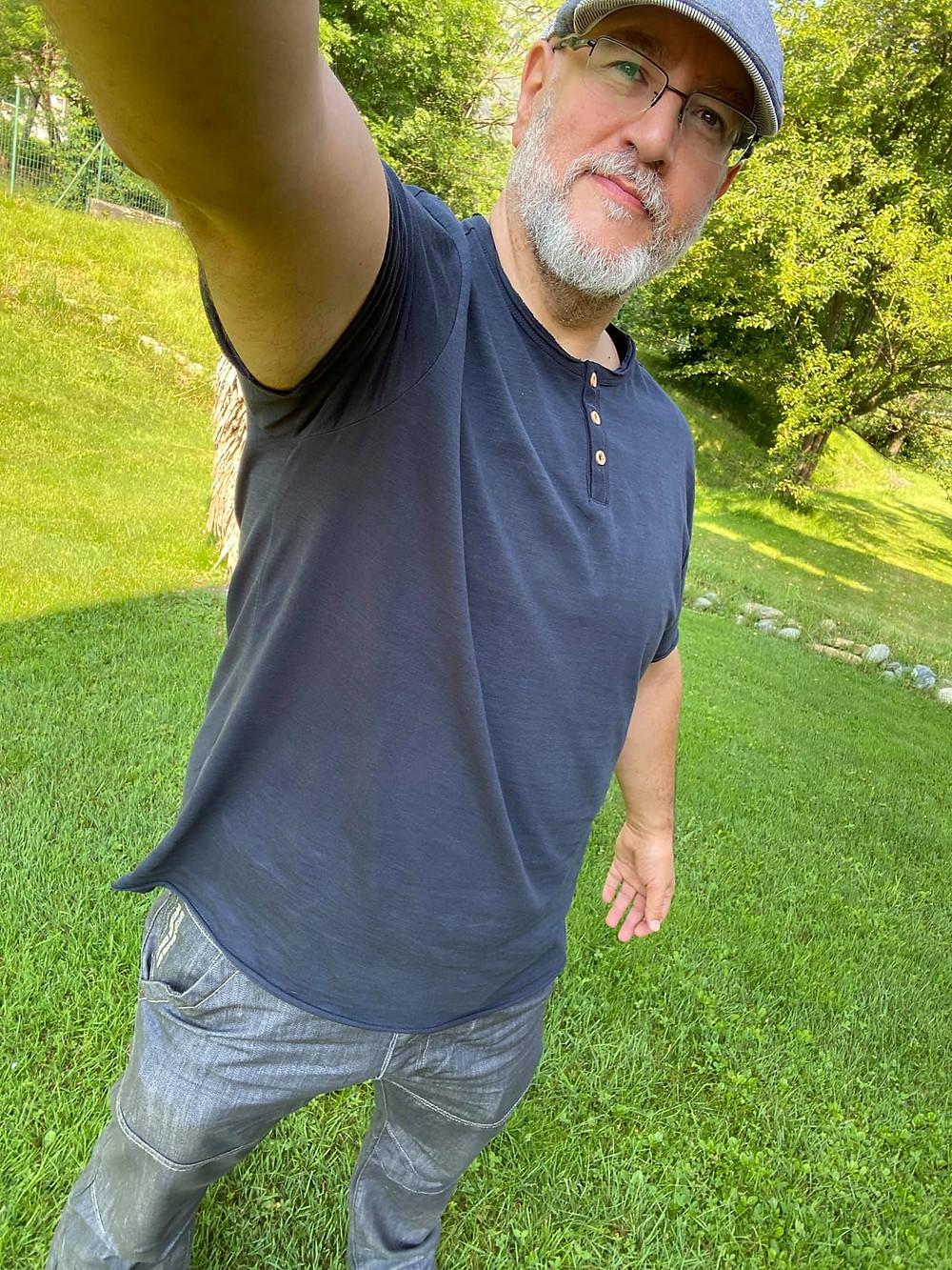 io, in un selfie di giugno 2020.