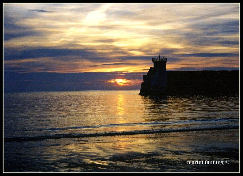 Daybreak over Balbriggan harbour