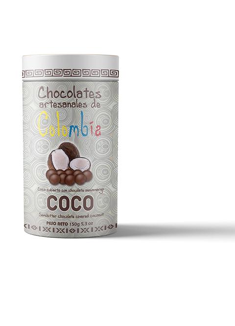 Grageas coco envuelto en chocolate / 150 gramos