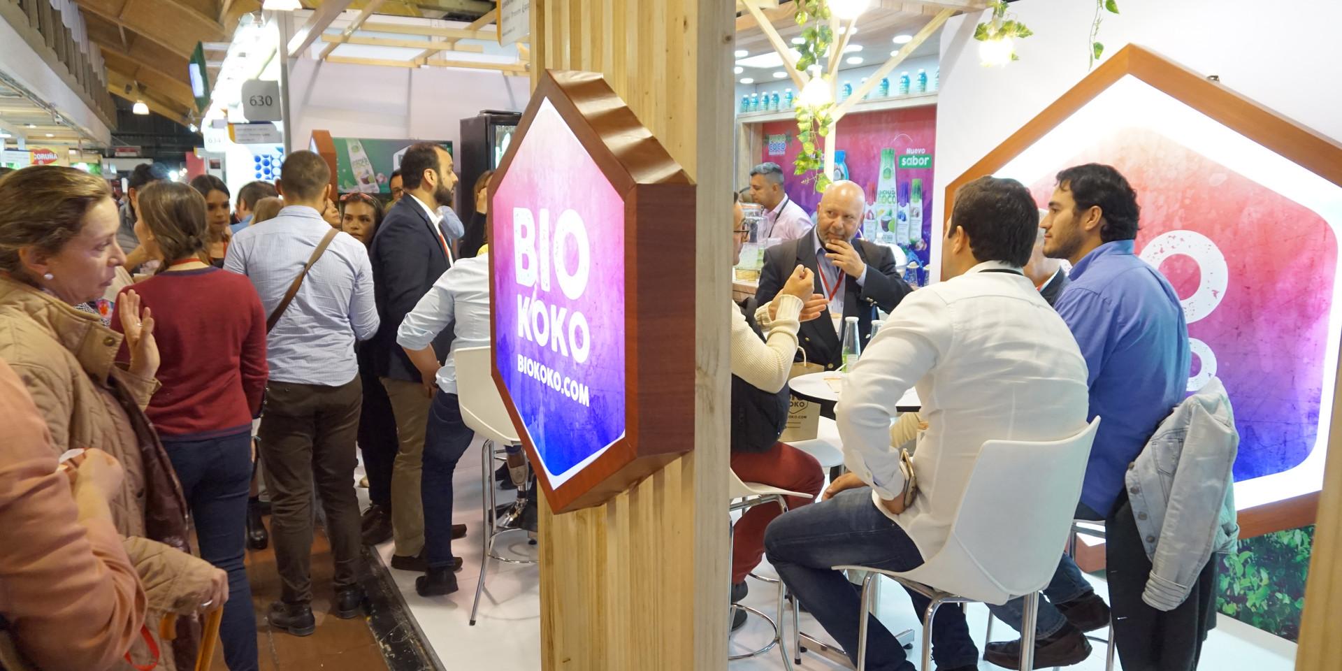 Stand de las marcas PuroCoco y BioKoko