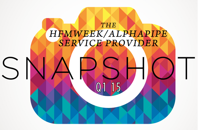 First Quarter 2015 AlphaPipe and HFMWeek Service Provider Snapshot.