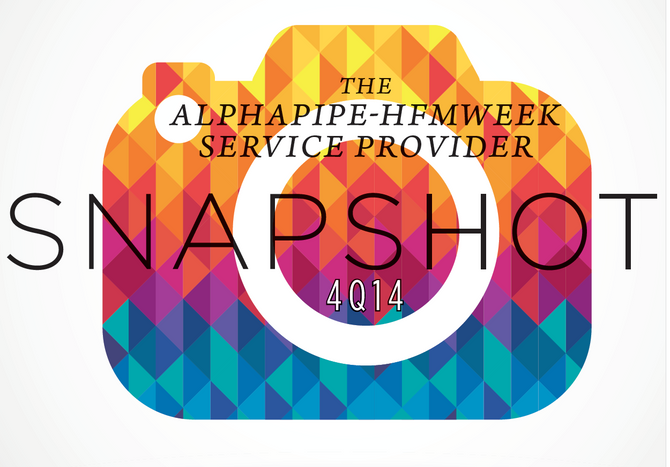 Fourth Quarter 2014 AlphaPipe and HFMWeek Service Provider Snapshot.