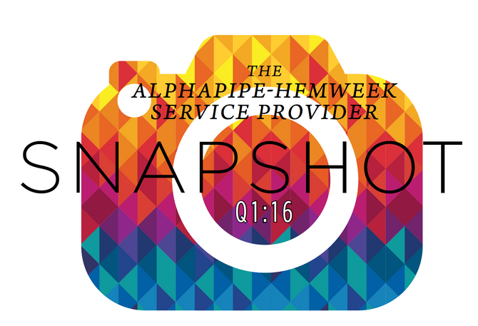 First Quarter 2016 AlphaPipe and HFMWeek Service Provider Snapshot.