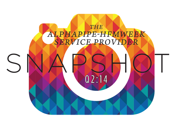 Second Quarter 2014 AlphaPipe and HFMWeek Service Provider Snapshot.