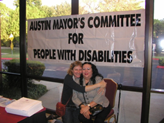 Dolores at the Austin Mayor's Committee for People with Disabilities Event